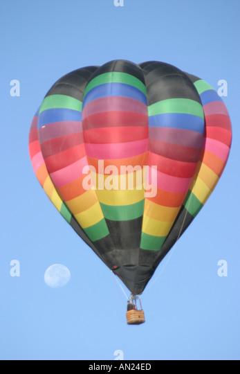 New Mexico Albuquerque hot air balloon moon T - Stock Image