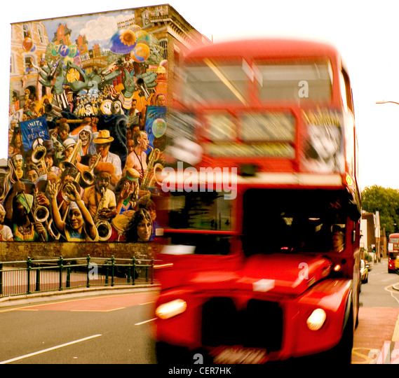The Dalston Peace Mural. Opened by GLC's Tony Banks in Oct 85 as a manifestation of Hackney's anti nuclear - Stock Image