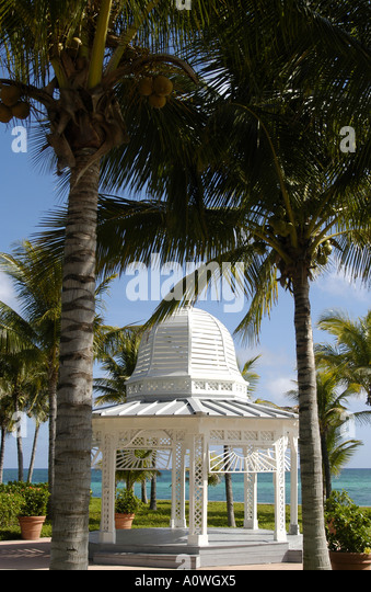 Tropical tropics gazebo - Stock Image