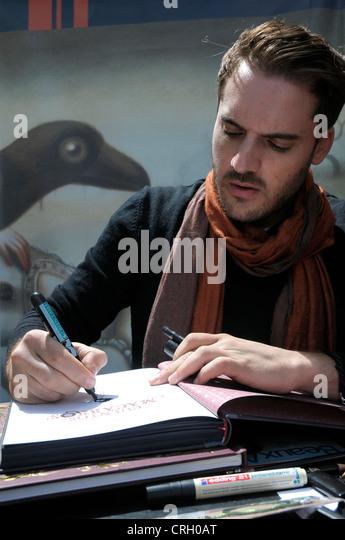 Benjamin Lacombe, born 12 juillet 1982  Paris, France. Mon Llibre 2012 . BARCELONA. Foto::© Fototext/ALAMY - Stock Image