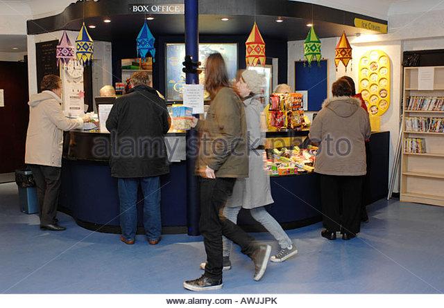 Ticket booth Aldeburgh cinema Suffolk UK - Stock Image