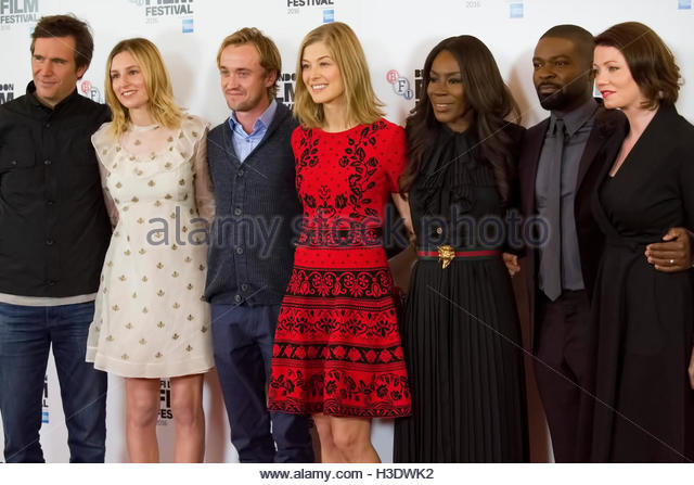 London, UK. 5th October, 2016. Jack Davenport, Laura Carmichael, Tom Felton, Amma Asante, Rosamund Pike, David Oyelowo, - Stock-Bilder