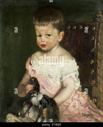 Henry Waller at the age of three - by Pieter Oyens, 1890 - Stock Image