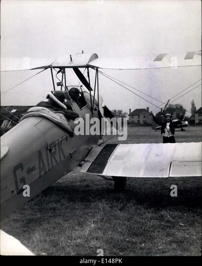 Apr. 17, 2012 - Taxiing D: Pat Raphel guides the plane in after training flight. ES - Stock Image