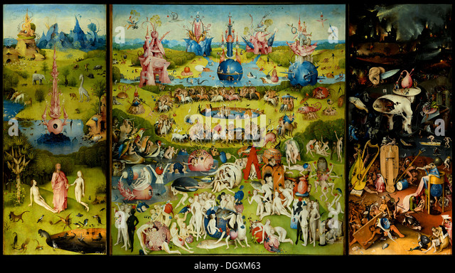 The Garden of Earthly Delights - by Hieronymus Bosch - Stock Image