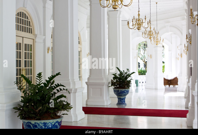 Raffles Hotel Singapore Asia - Stock Image