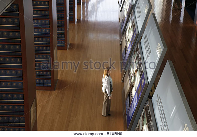 Little Rock Arkansas William J. Clinton Presidential Library woman 120 foot timeline exhibit archives government - Stock Image