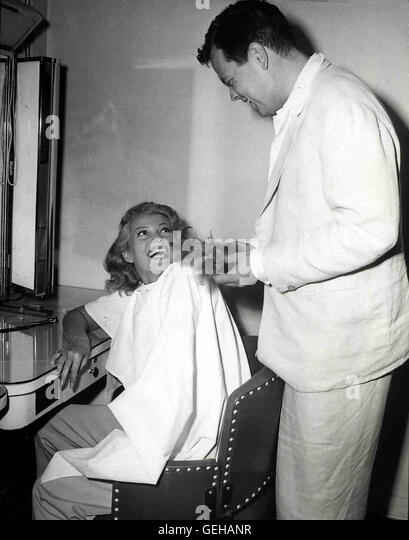 Rita Hayworth und Orson Welles 1947 am Set von THE LADY FROM SHANGHAI *** Local Caption *** 0, 1940s, Hayworth & - Stock Image