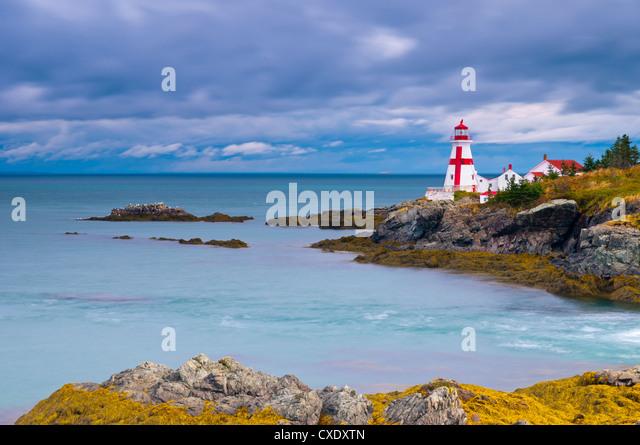 East Quoddy (Head Harbour) Lighthouse, Campobello Island, New Brunswick, Canada, North America - Stock Image