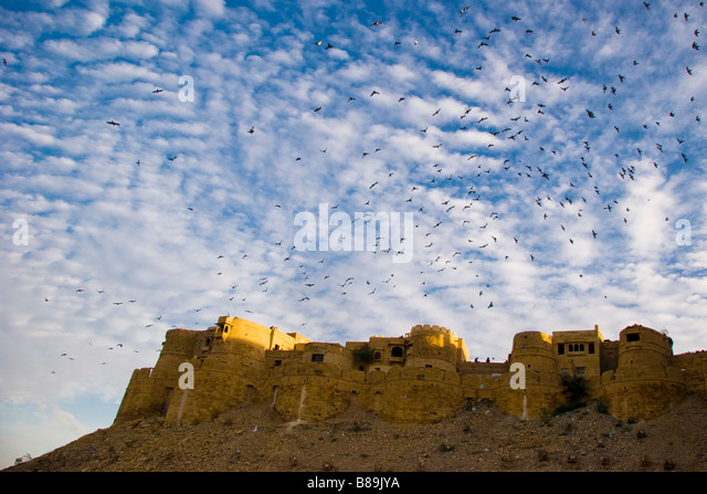 Exterior Jaisalmer fort Jaisalmer Rajasthan India - Stock-Bilder