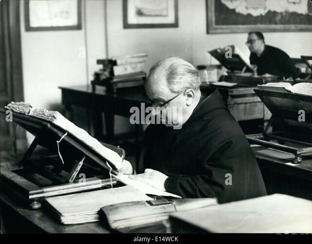 Apr. 18, 2012 - Reading room of the Vatican secret archive. - Stock-Bilder