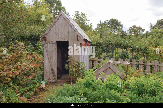 Colourful Garden Shed Stock Photos Colourful Garden Shed