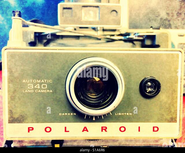 expandable Polaroid camera - Stock-Bilder