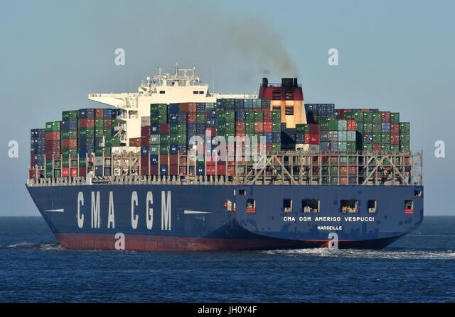 CMA CGM Amerigo Vespucci - Stock Image