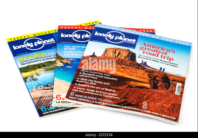Lonely Planet travel magazines - Stock-Bilder