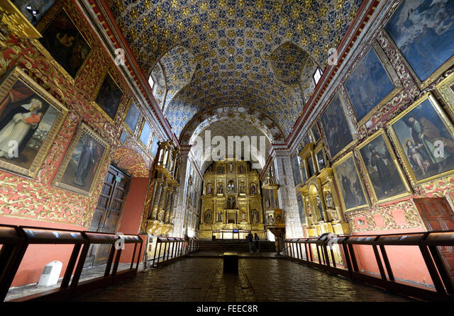 Museum and abbey Iglesia Museo de Santa Clara, Bogota, Colombia - Stock Image