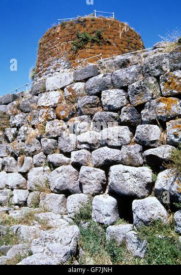 Nuragic civilization. Bronze Age (18th C. BC-2nd C. AD).  Nurarghe (tower-fortresses) of Santu Antine, Torralba, - Stock Image