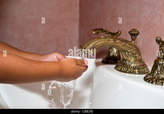 Boy Washing Hands At Sink Stock Photos Amp Boy Washing Hands