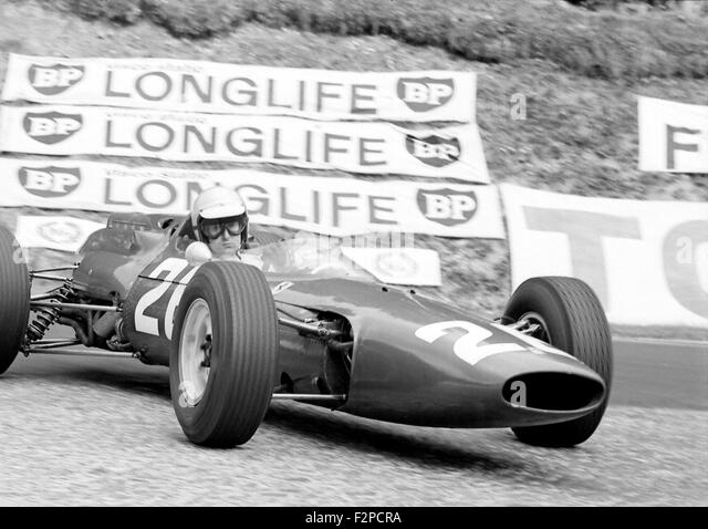 Lorenzo Bandini in a Ferrari 312 French GP in Rouen 1964 - Stock Image