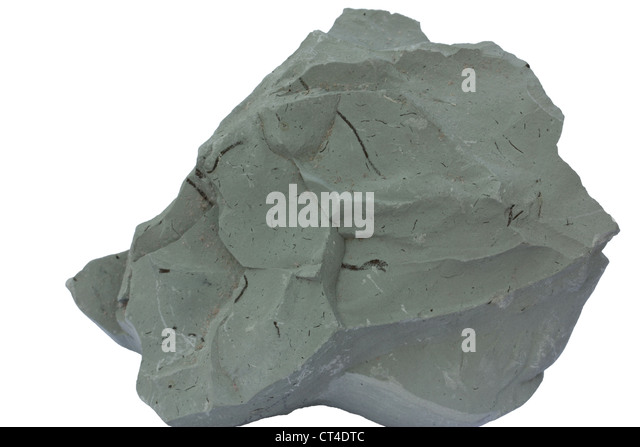Blue clay from Cambrian of Estonia. - Stock Image