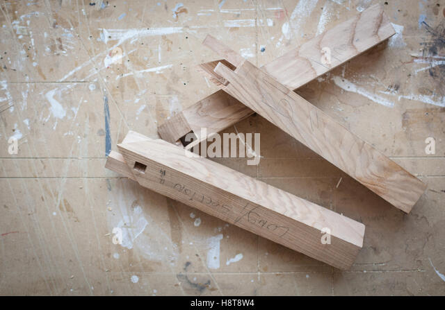 Detail of a cabinet makers bespoke joinery - Stock-Bilder