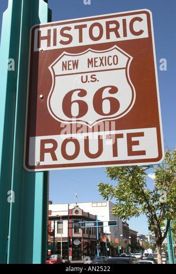 Albuquerque New Mexico Historic Route Central Avenue W - Stock Image