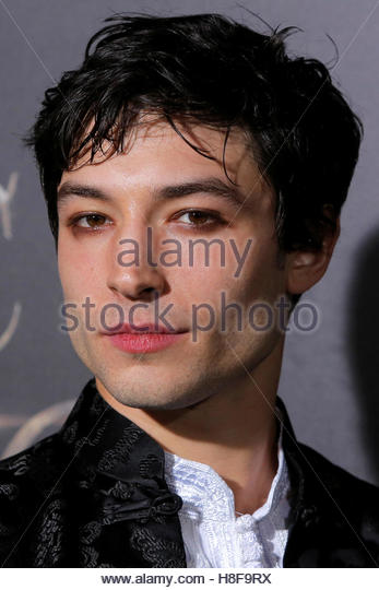 Actor Ezra Miller attends the premiere of ?Fantastic Beasts and Where to Find Them? in Manhattan, New York, U.S., - Stock-Bilder