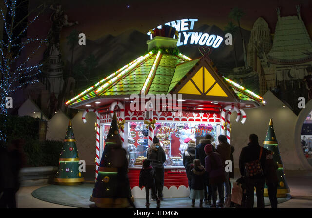 Disney Village at Christmas season - Stock Image