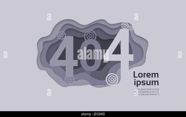 404 Not Found Problem Internet Connection Error - Stock Image