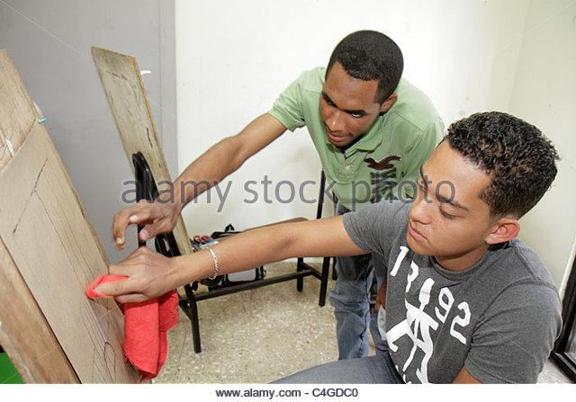 Santo Domingo Dominican Republic Ciudad Colonia Calle Isabel La Catolica Escuela Nacional de Artes Visuales visual - Stock Image