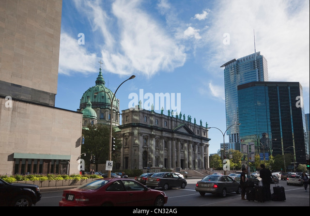 Cathedrale Marie Reine du Monde (aka: Mary, Queen of the World Cathedral), Montreal, Quebec, Canada - Stock Image