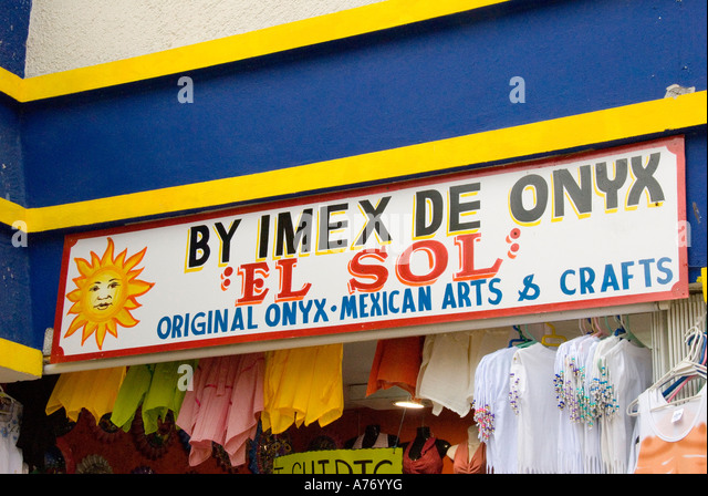 Cozumel Mexico San Miguel town onyx store - Stock Image