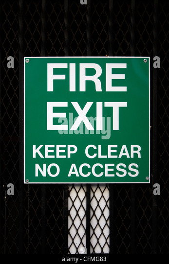 Fire Exit - Stock Image