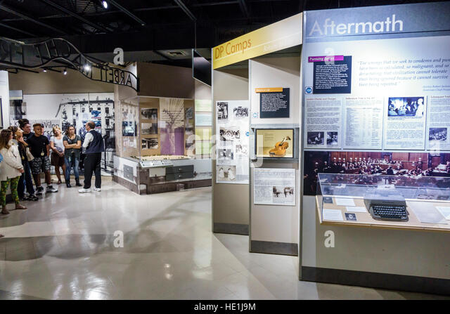 Florida St. Saint Petersburg Florida Holocaust Museum interior exhibits concentration camp camps - Stock Image