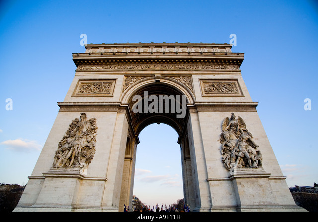 Arch of Triumph in Paris, France - Stock Image