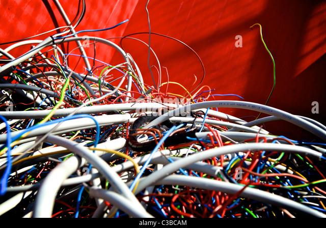 ELECTRONIC DUMPSTER - Stock Image