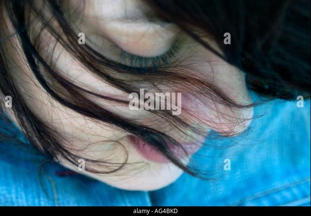 Caucasian female portrait - Stock Image