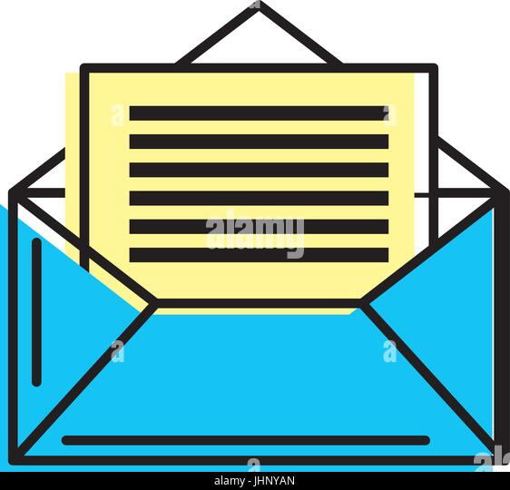e-mail message to write and communication - Stock-Bilder