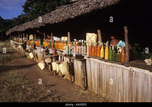Hot sauce market Madagascar - Stock Image