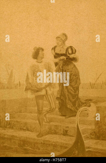 Couple of Venetians, painting unknown - Stock Image