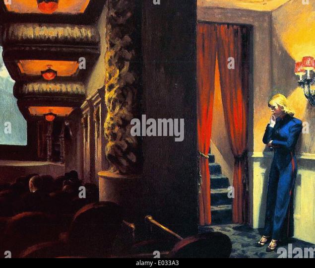Edward Hopper New York Movie - Stock-Bilder