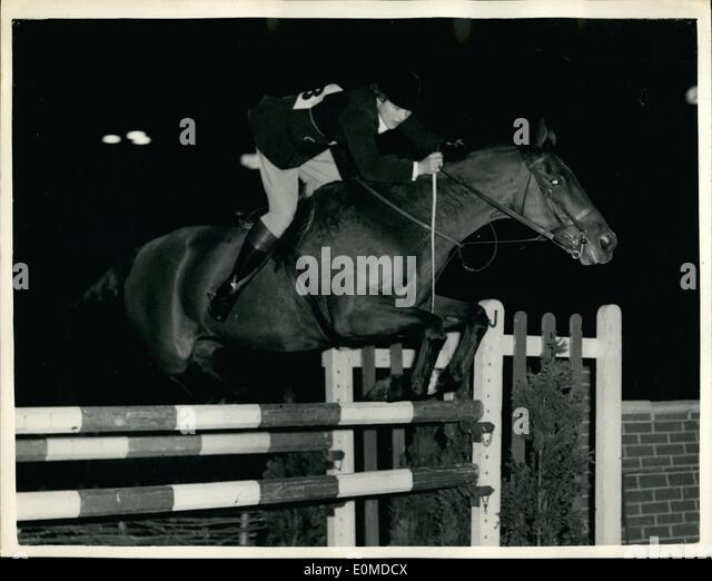 Oct. 10, 1954 - Opening Of Horse Of The Years Show: The hOrse of the Year Show,, organized by the British Show Jumping - Stock Image