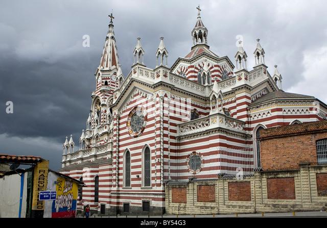 Santuario Nacional de Nuestra Señora del Carmen Iglesia (Church), Bogota, Colombia - Stock Image