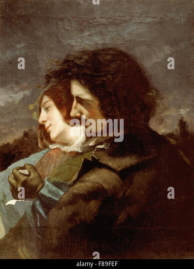 Gustave Courbet - Lovers in the Country - Stock Image