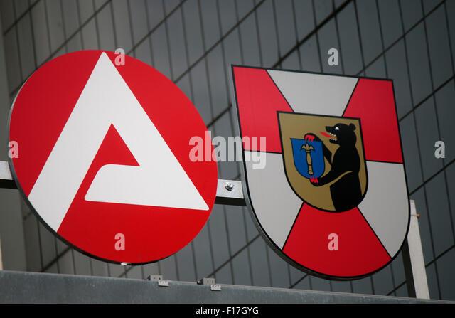 Logo 'Arbeitsamt'/ 'Job Center', Berlin. - Stock Image