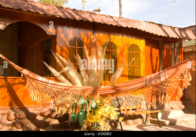 Chile San Pedro de Atacama traditional architecture building - Stock Image