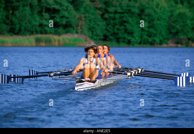 TEAMWORK COOPERATION STOCKHOLM ROWING CLUB  - Stock Image