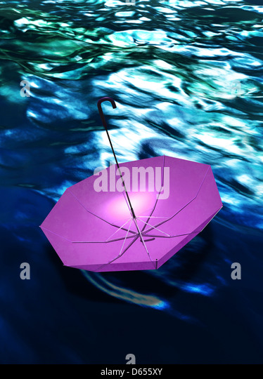 Extreme weather, conceptual artwork - Stock Image