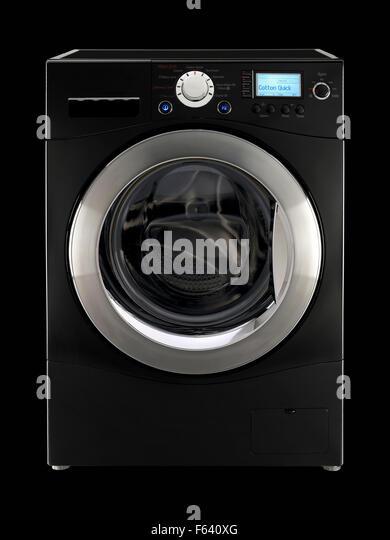 Washing Machine Against White Background Stock Photos