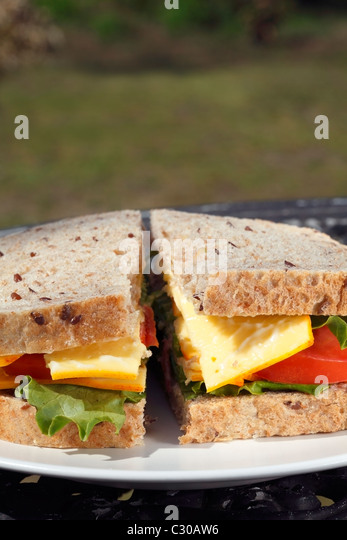 Cheese sandwich - Stock Image